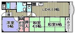 フローラル岸和田[104号室]の間取り
