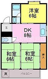 愛知県名古屋市守山区向台2丁目の賃貸マンションの間取り
