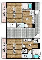 Vividcastle[1階]の間取り