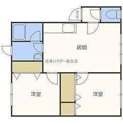 北海道札幌市北区太平三条3の賃貸アパートの間取り