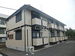 東京都羽村市小作台2丁目の賃貸アパートの外観