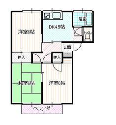 長野県長野市大字南長池の賃貸アパートの間取り