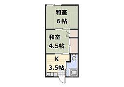 新田荘[202号室]の間取り