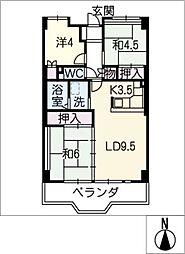 塩釜東 1号棟[2階]の間取り