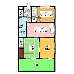 錦ハイツ[1階]の間取り