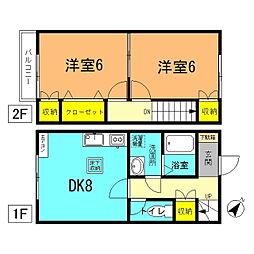 [テラスハウス] 神奈川県平塚市平塚4丁目 の賃貸【/】の間取り