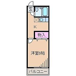 神奈川県横浜市港北区日吉3の賃貸アパートの間取り