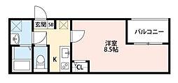 東京都板橋区蓮根1丁目の賃貸アパートの間取り