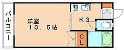 ラフォーレハイム[2階]の間取り