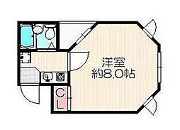 グリーンライフ西宿[2階]の間取り
