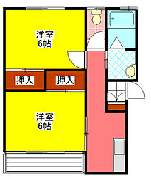 宮崎県小林市大字堤の賃貸アパートの間取り