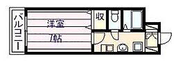 にしみマンション[2階]の間取り