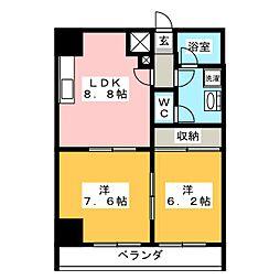 Renato広瀬通[8階]の間取り