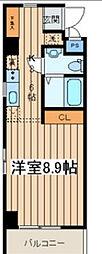 アフィーノ川崎[304号室]の間取り