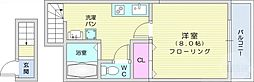 JR東北本線 南仙台駅 徒歩12分の賃貸アパート 2階1Kの間取り
