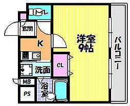 サンコークレアール[5階]の間取り