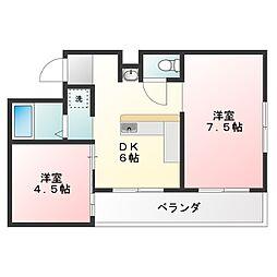 メゾンパルクNS[2階]の間取り