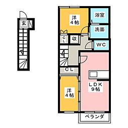 La Vita BrillanteII[2階]の間取り
