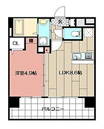 三島マンション博多駅東[607号室]の間取り