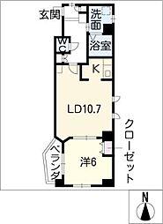 AHマンション泉[6階]の間取り