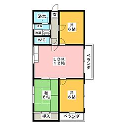 工藤ビル[5階]の間取り
