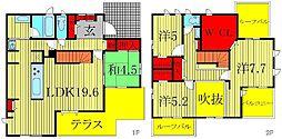 [一戸建] 千葉県柏市大津ヶ丘4丁目 の賃貸【/】の間取り