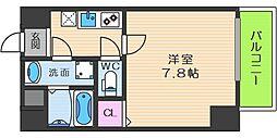 TOYOTOMI STAY PREMIUM梅田III 4階1Kの間取り