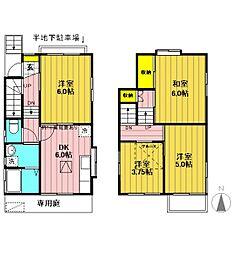 [一戸建] 東京都立川市錦町6丁目 の賃貸【/】の間取り