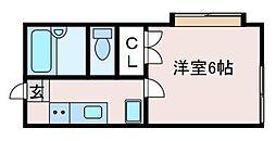MSハイツ[1階]の間取り