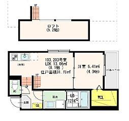 Casa Viola 栄生[1階]の間取り
