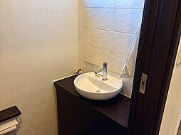 トイレには専用手洗い付き