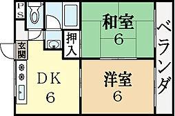 寺田ガーデンハイツ3番館[3階]の間取り