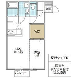 (仮)D-room松代2丁目[102号室号室]の間取り