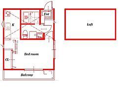 (仮称)西富1丁目アパート[201号室]の間取り