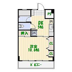 東澤マンション[403号室]の間取り