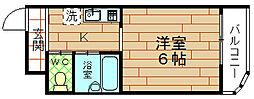 大阪府大阪市港区磯路2丁目の賃貸マンションの間取り