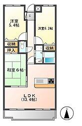 セレニール香南[2階]の間取り