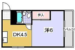 昭光マンション[301号室]の間取り