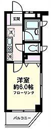アンビシャス21新川崎[301号室号室]の間取り