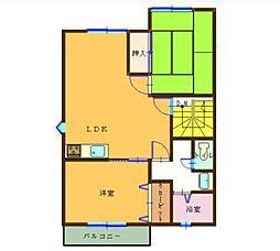 フローラルハウス[A202号室]の間取り