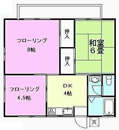 東京都世田谷区喜多見4丁目の賃貸アパートの間取り