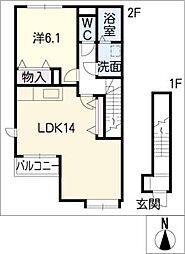 シャルマンハイツ A棟[2階]の間取り