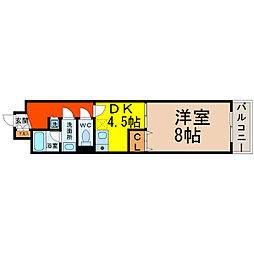 グランシャリオ名駅南[9D号室]の間取り