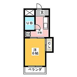 レジデンス東海[1階]の間取り