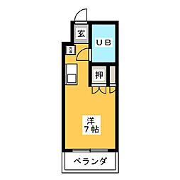 シェスタ桜山[7階]の間取り