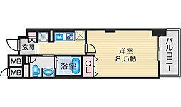 LIBRATAKATSUKI(リブラタカツキ) 8階1Kの間取り