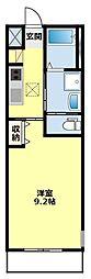愛知県豊田市寺部町4丁目の賃貸アパートの間取り