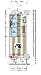 ララプレイス大阪ウエストゲート 5階1Kの間取り