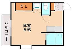 福岡県福岡市南区横手2丁目の賃貸マンションの間取り