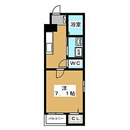 フラット黒門[3階]の間取り